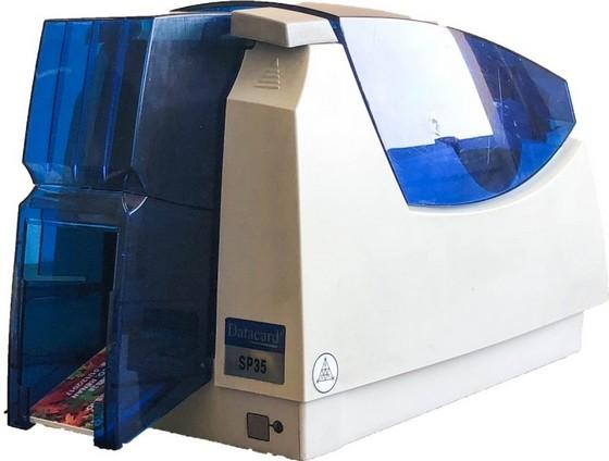 Impressora de Cartão Pvc Datacard Sp35 Colorida Orçamento Peruíbe - Impressora de Cartão Pvc Fargo